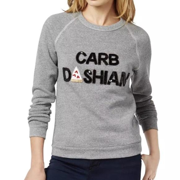 Bow and Drape Carb Dashian sweatshirt